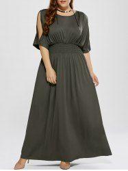 Plus Size Cold Shoulder Maxi Prom Dress