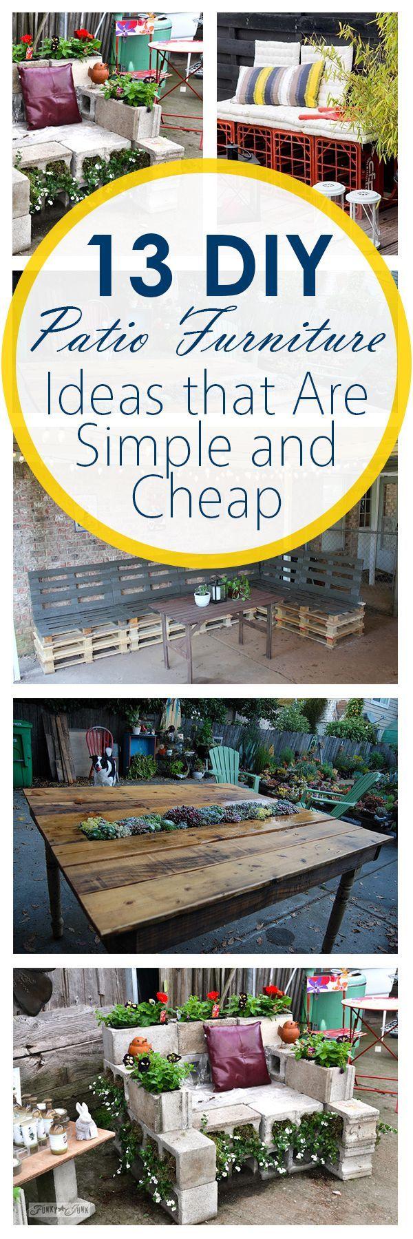The 25+ best Cheap patio furniture ideas on Pinterest   Patio diy ...