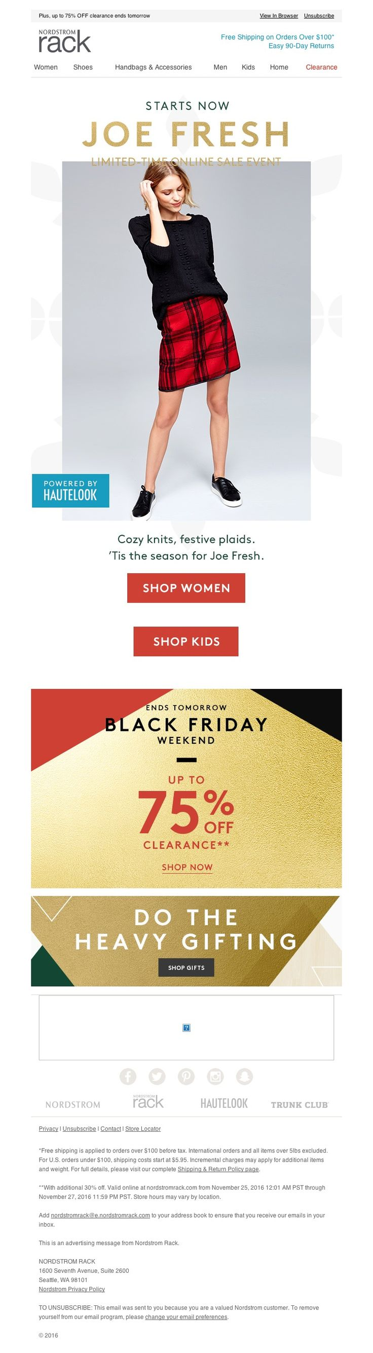 Nordstrom Rack - The Joe Fresh Event starts now!
