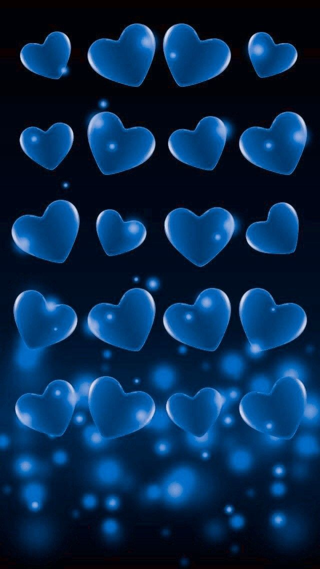 Pin By Diamond Bright On Heart Wallpapers Heart Wallpaper Blue Heart Wallpaper Cute Galaxy Wallpaper Black and blue heart wallpaper