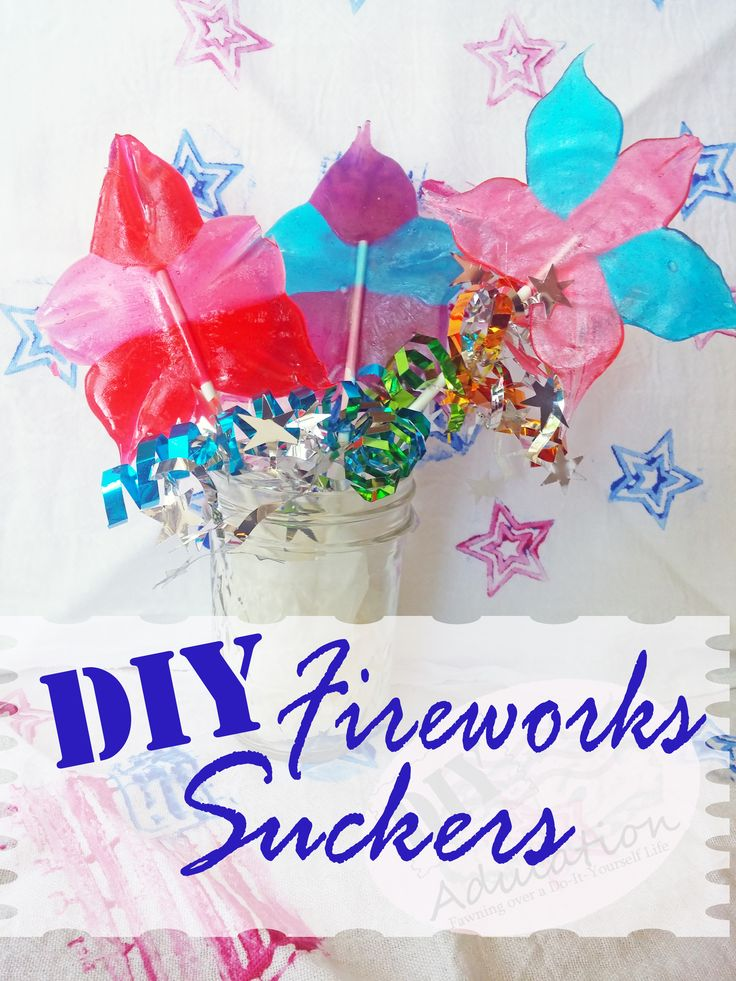 These DIY fireworks suckers are sweet treat that is sure to please!