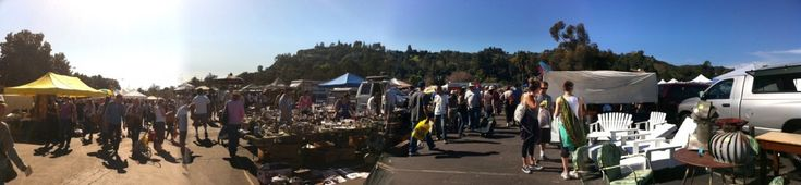 The Rose Bowl flea market in Los Angeles California