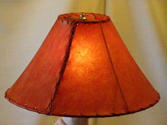 Red Rawhide Lamp Shade 16""""