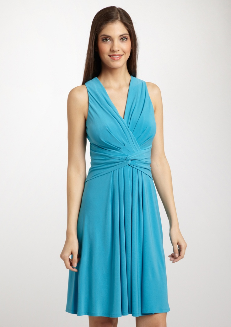 Evan Picone | Jersey Dress with Twisted Waistband ...