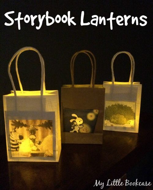 Storybook Lanterns. Books Light Up Our World, Book Week 2015 -- how awesome!