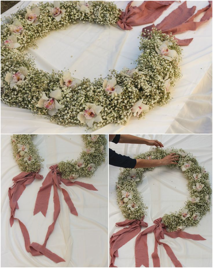 Big flower crown for baby shower.