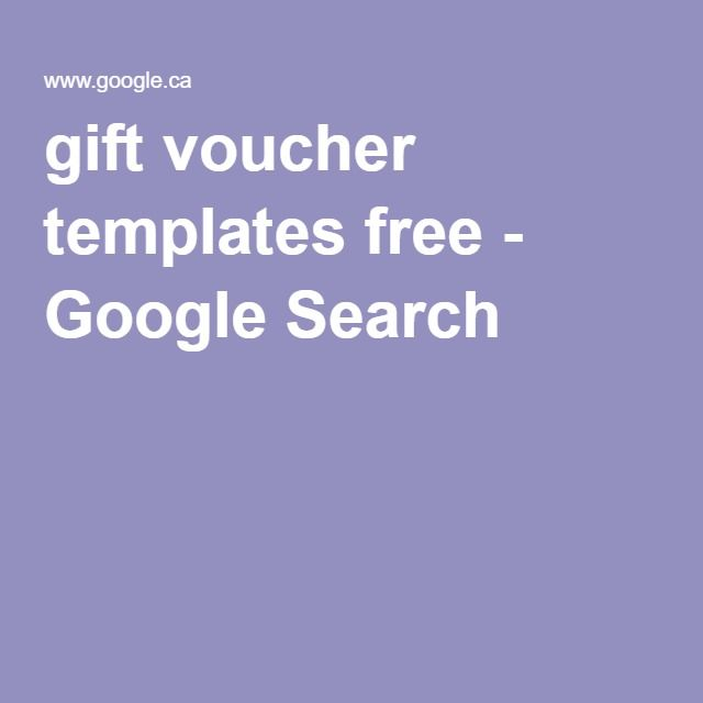 gift voucher templates free - Google Search