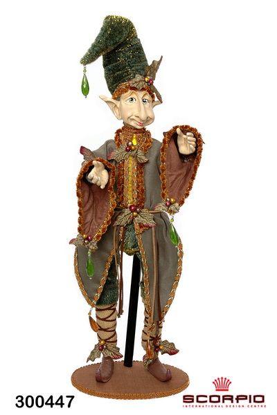 """кукла """"лесной эльф"""", зеленый/коричневый - Авторская кукла - SCORPIO - Магазин подарков, декора, иллюминации"""