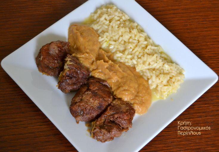 Κρέας κατσαρόλας κρασάτο, με σάλτσα λαχανικών εποχής