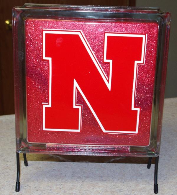 Krafty Block Mini Glass Block Light Decorated Inside With