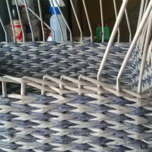 madeira Borde 'madera' de cesteria de papel