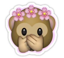 Emoji Monkey Flower Crown Edit Sticker