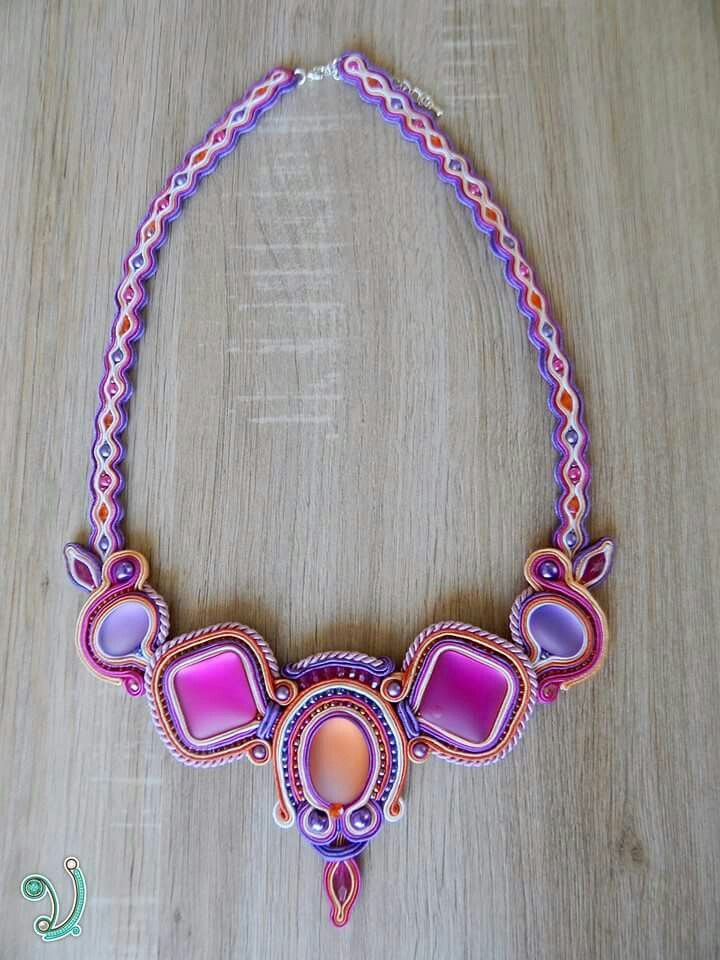 """Summer"" soutache necklace"