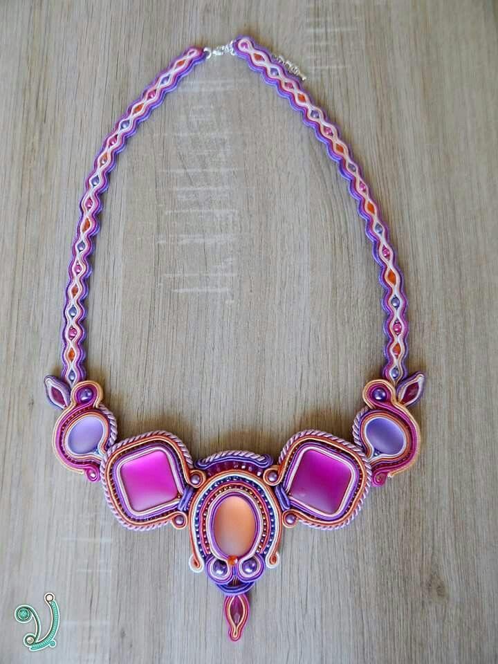 """""""Summer"""" soutache necklace"""
