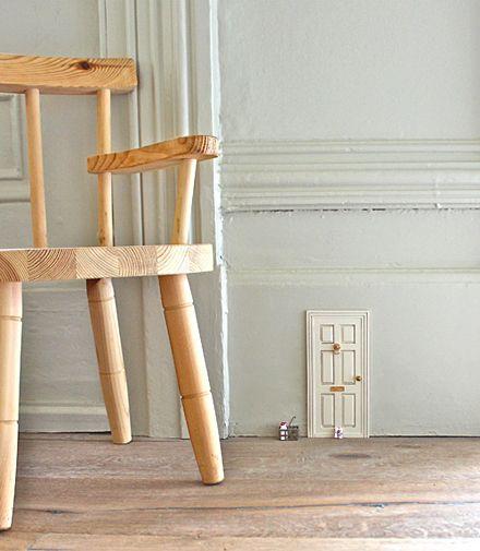 Who lives here? DIY Project: Tiny Doors, via Design Sponge