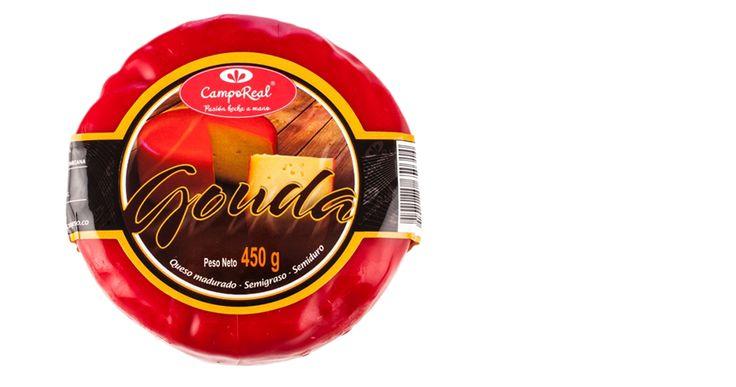 Gouda. Es un queso exquisito por su sabor único que le dan los 4 meses de maduración, de la familia de los quesos Holandeses.
