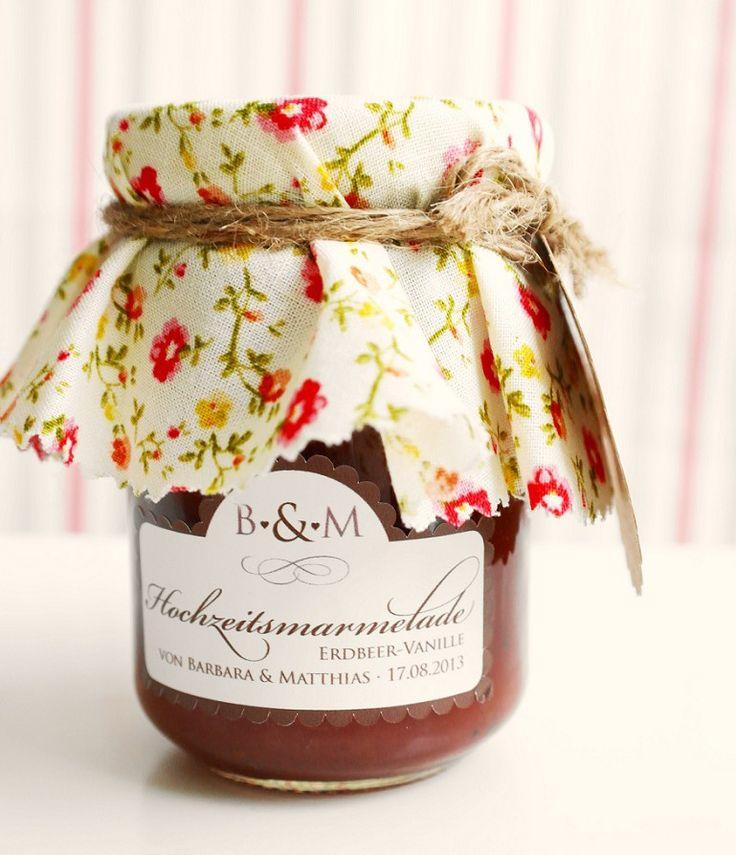 DIY: Marmeladengläser mit Vintage Stoffen als Gastgeschenke, Teil 1 | Hochzeitsblog - The Little Wedding Corner