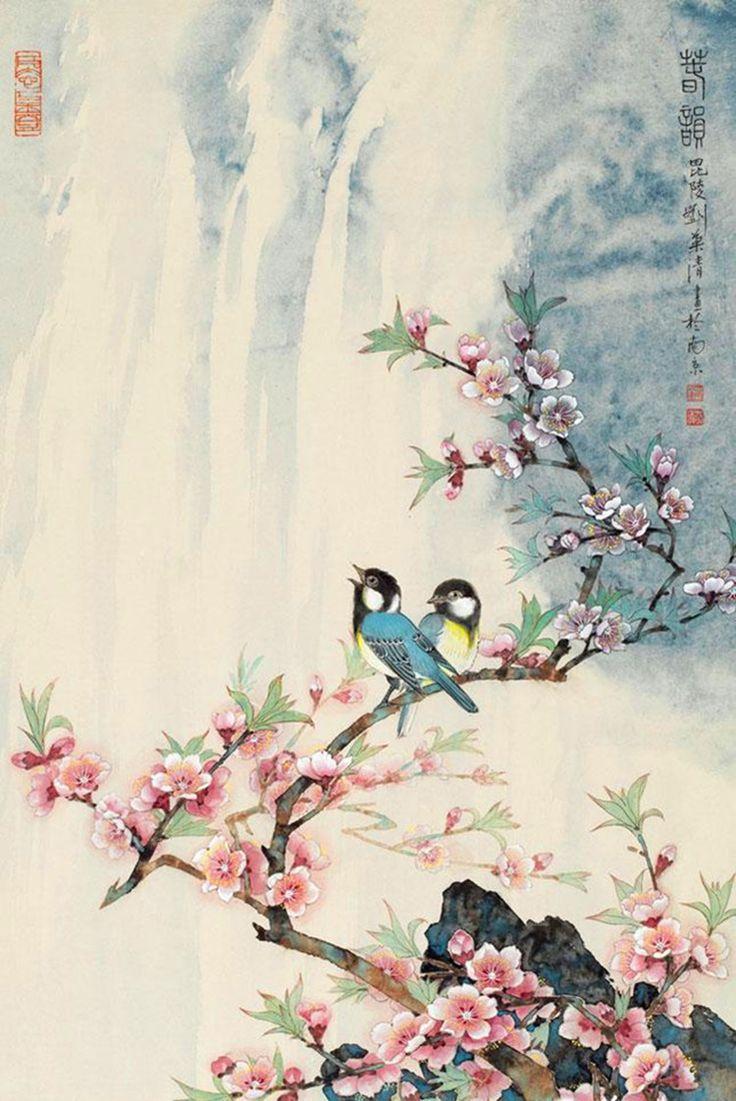 女画家刘菊清工笔作品欣赏 - 春韵