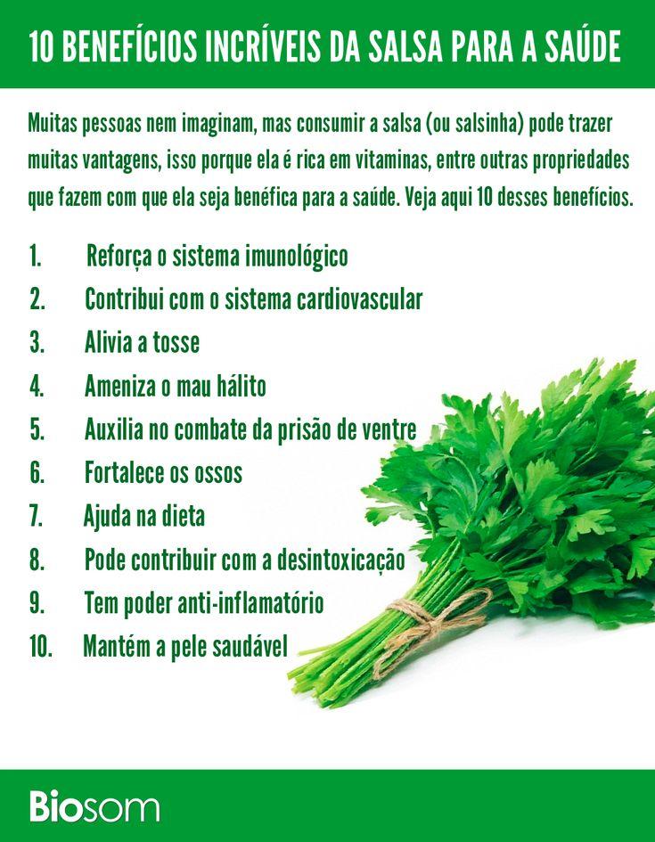 Clique na imagem e veja detalhadamente os 10 Benefícios Incríveis da Salsa para a Saúde #salsa #alimento #alimentação #alimentaçãosaudavel #saúde #bemestar