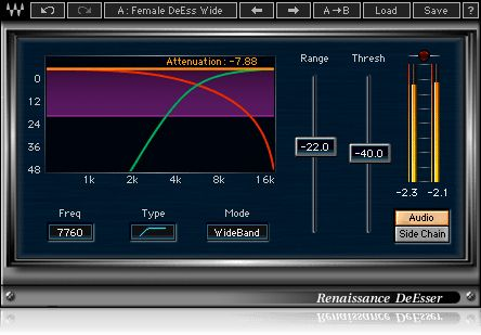 Renaissance DeEsser: A state-of-the-art de-esser which reduces undesirable frequencies while preserving your source, the Renaissance DeEsser plugin makes it easy to clean up your tracks.