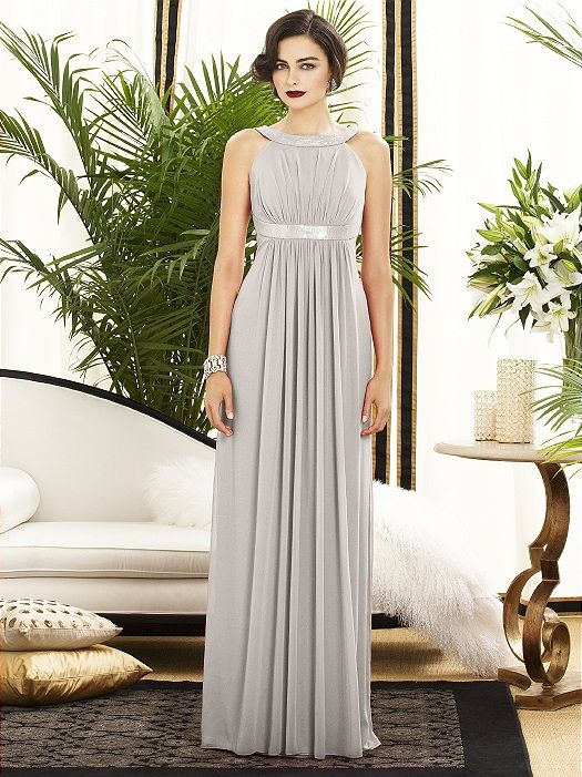 Silver/pale gray rarely appeal to me in clothing. But the cut of this dress is so winning, it might even change my mind!