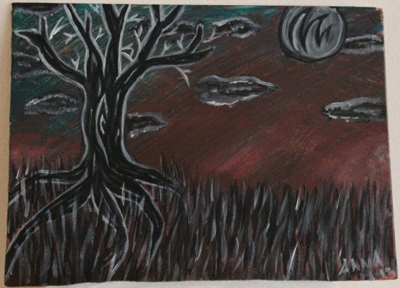 http://www.etsy.com/listing/164863651/howling-moon-tree-9-by-12-flat-canvas