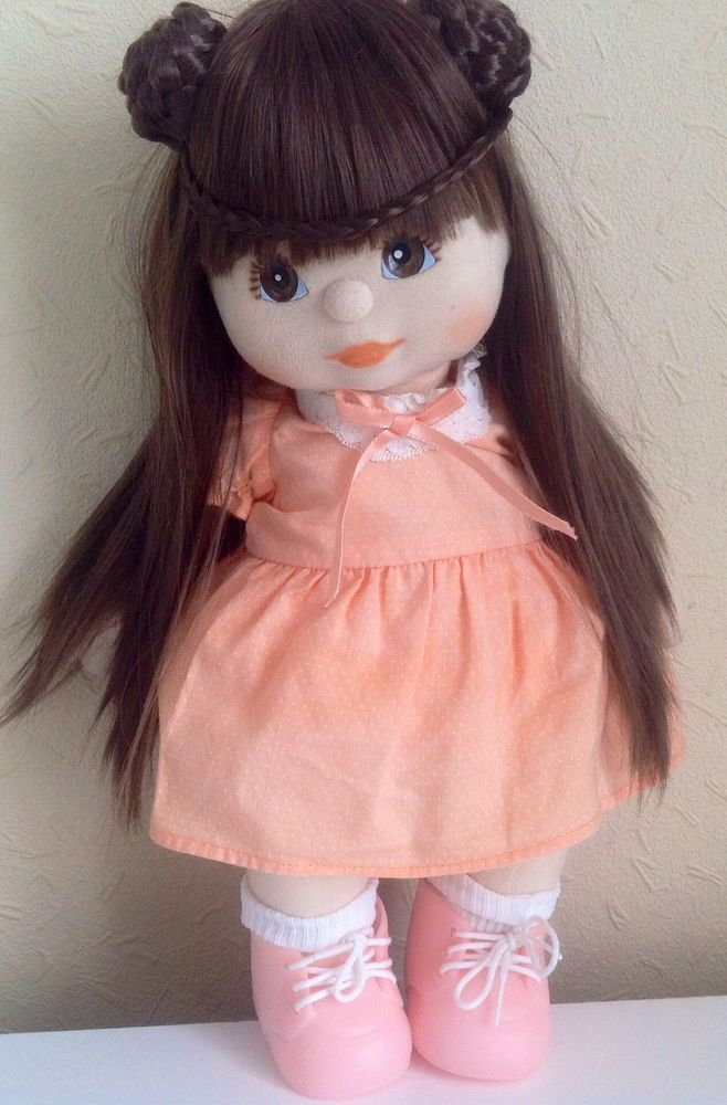 MATTEL MY CHILD DOLL OOAK PRINCESS LEIA HAIR GIRL + OUTFIT.. NO SHOES