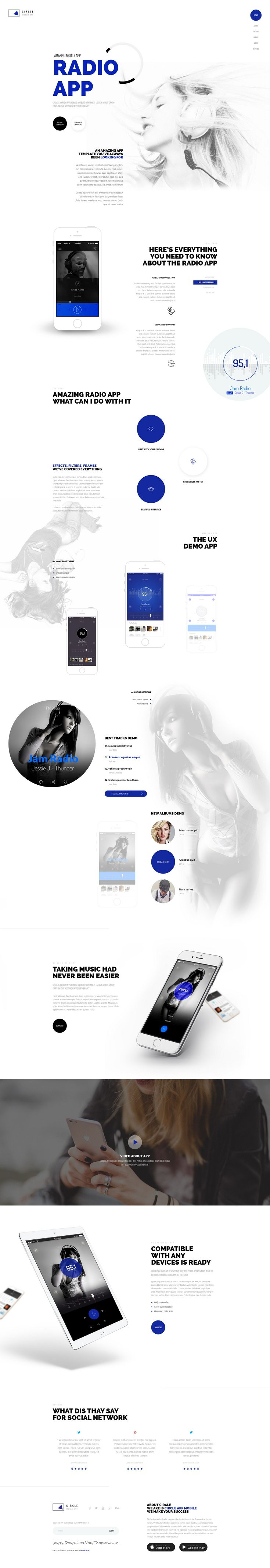 CIRCLE is modern and professionally design PSD #template for multipurpose #website with 42 homepage, 25 Online store, 8 blog layouts and 173 #PSD files. #app Download Now!