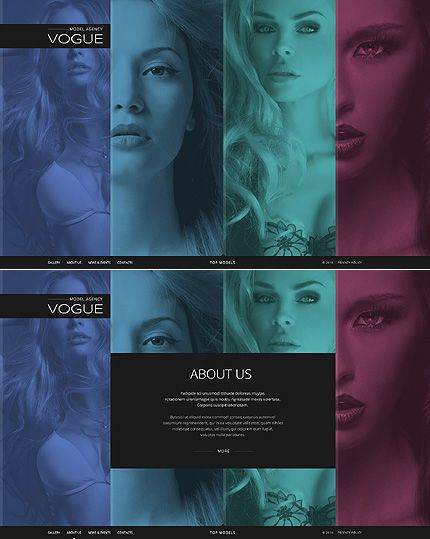 Template 49449 - Model Agency Responsive Website Template