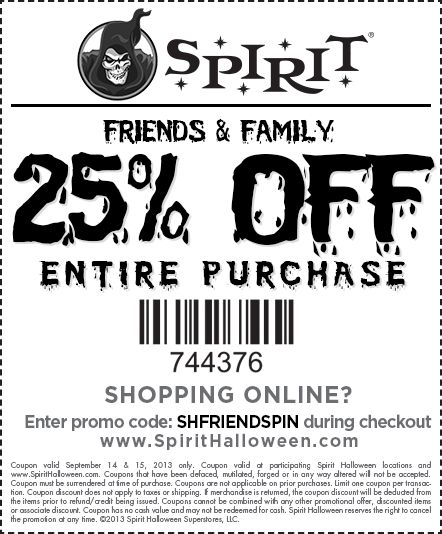 spirit halloween wants to give our friends family something special this season visit your - Spirit Halloween Store 2016