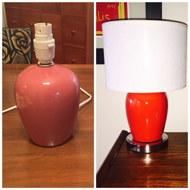 Don't like the colour of your lamp? Why not paint it?