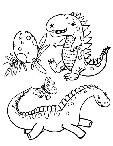 Printable Baby Dinosaur Coloring Page Free PDF Download At Coloringcafe