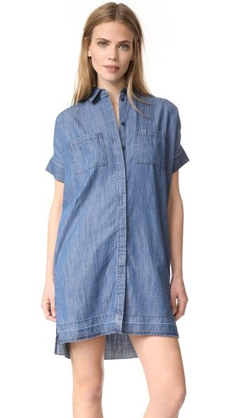MADEWELL Denim Shirtdress. #madewell #cloth #dress #top #shirt #sweater #skirt #beachwear #activewear