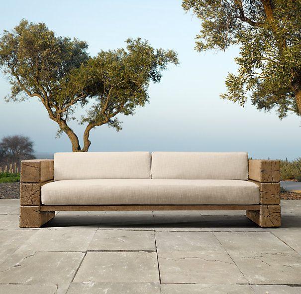 Best 25 restoration hardware outdoor furniture ideas on pinterest outdoor bar table patio - Restoration hardware patio ...