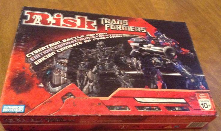 Risk Transformers Board Game Autobots Vs Decepticons Optimus Prime Megatron Toy