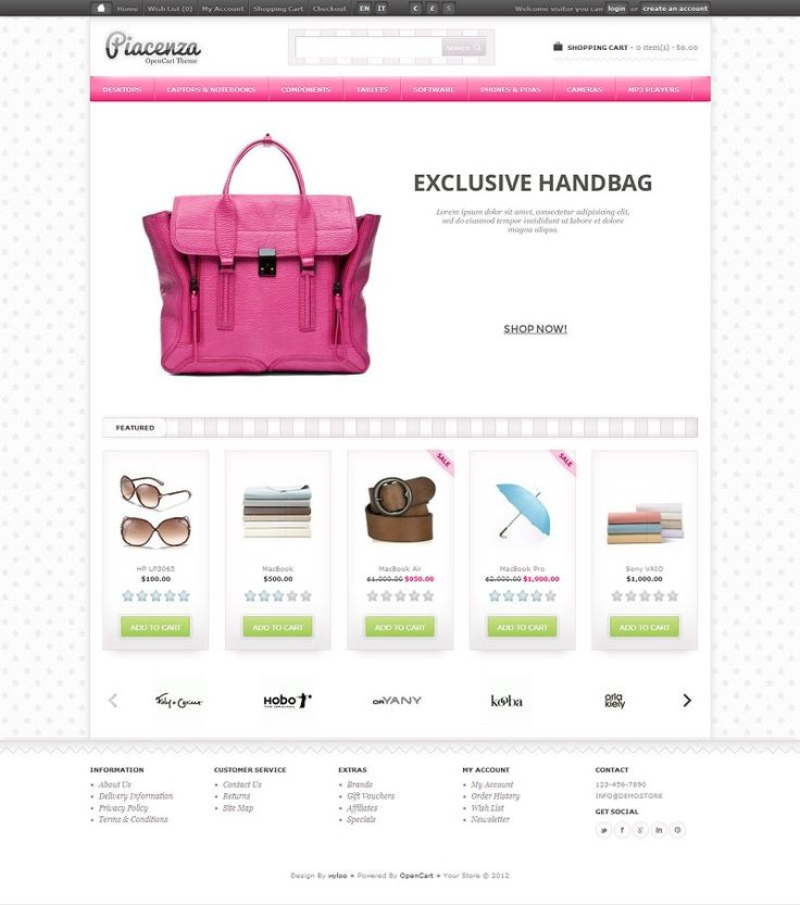 Piacenza - Premium OpenCart 1.5 Fashion Store Theme