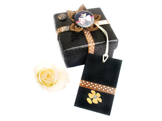 Black Gift Paper Card Tags  Handmade Gift Tags  270 by ScrapCati, $6.50