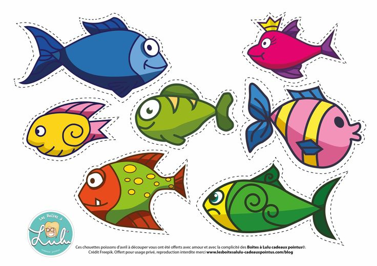 Un joli pêle-mêle DIY de Poissons à #imprimer et découper pour vos petits et grands #enfants #PoissonDavril #DIY #1erAvril #printable #activitePourEnfant #poissons #davril #fish #BonneRigolade avec le poisson #Lulune !