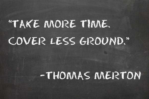 Thomas Mertons Recipe for Rest