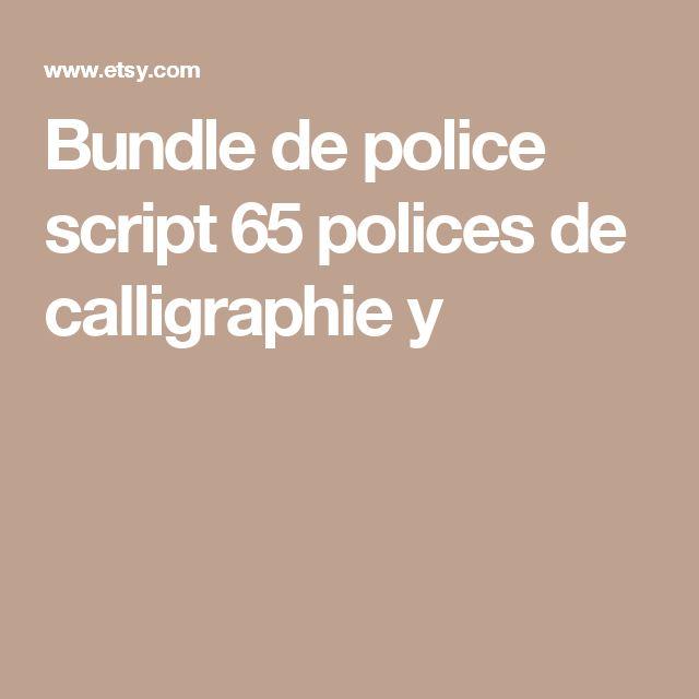 Bundle de police script  65 polices de calligraphie y