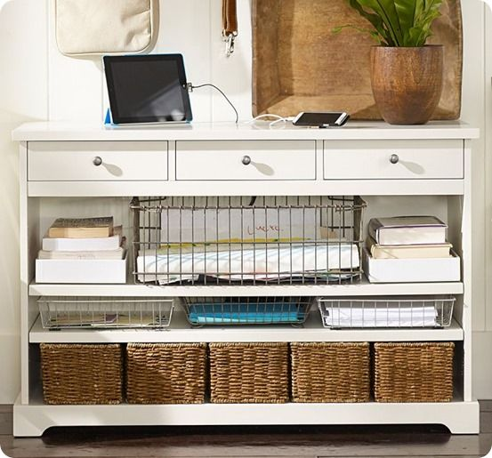 entryway tables with storage | Entryway Storage Console That Has It All!