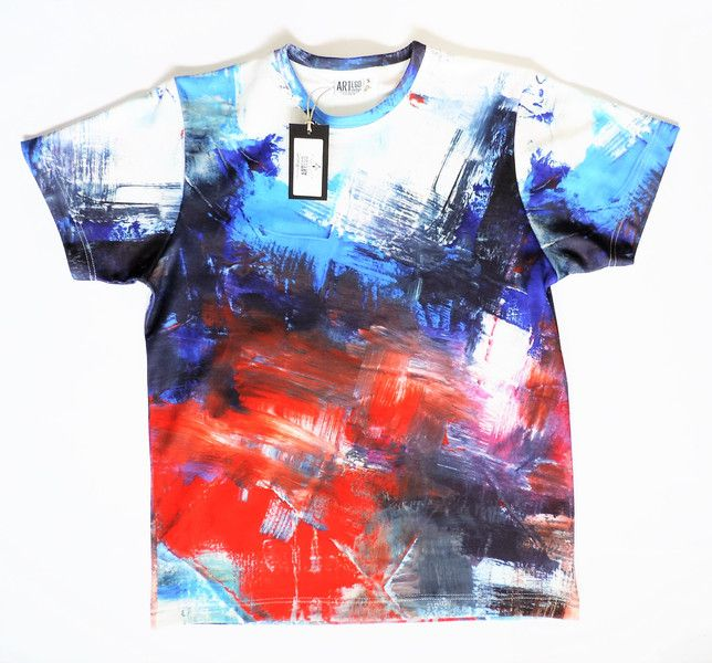 T-shirt męski - Artystyczne Abstrakcje LUX! - ArtEgo - Bluzki