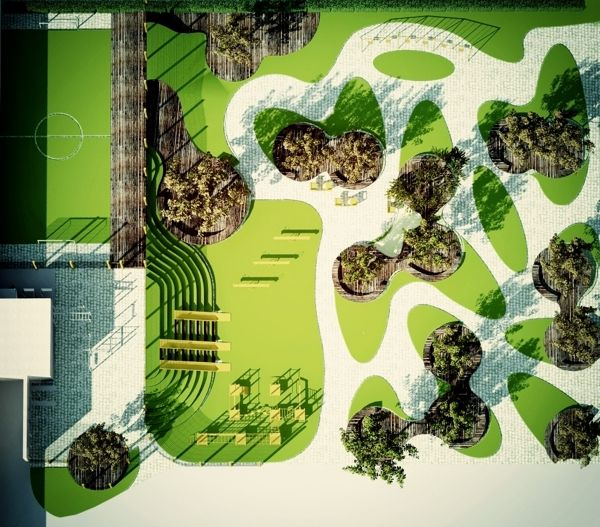 Public Park With Children Playground | Ukraine | 2010 by galyna tolkachova, via Behance