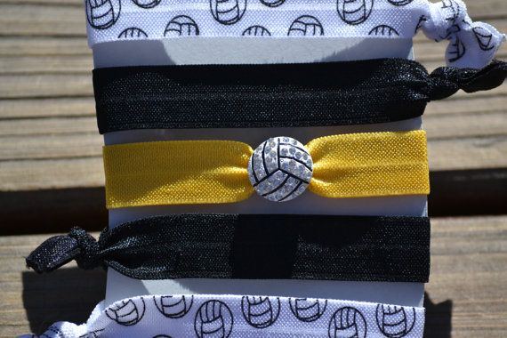 Volleyball Hair Ties Team Color Volleyball Hair by SportyChicas