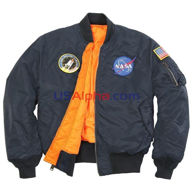 Куртка MA-1 NASA #аляска #парка #куртка #мужская куртка #зимняя куртка #usalpha.com #бомбер #летная куртка #демисезон