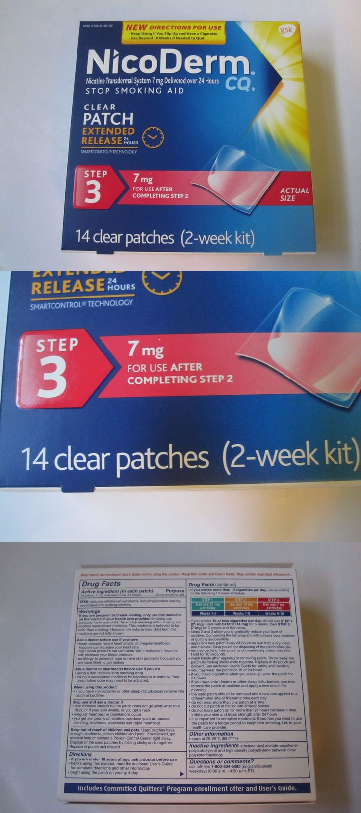 Patches: One Pack Of (Nicoderm)Stop Smoking Aid, Step 3 (14 Clear Patches )(Two Week Kit) -> BUY IT NOW ONLY: $33 on eBay!