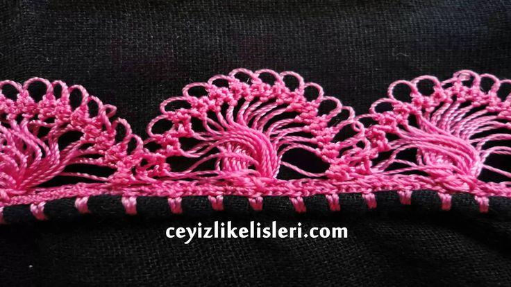 Yeni Firkete Tığ Oyası Modeli : New Hairpin Crochet Crochet Model