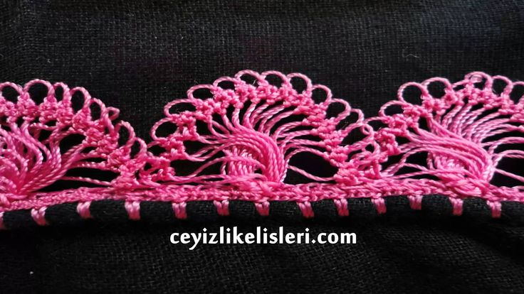 Yeni Firkete Tığ Oyası Modeli : New Hairpin Crochet Crochet Model