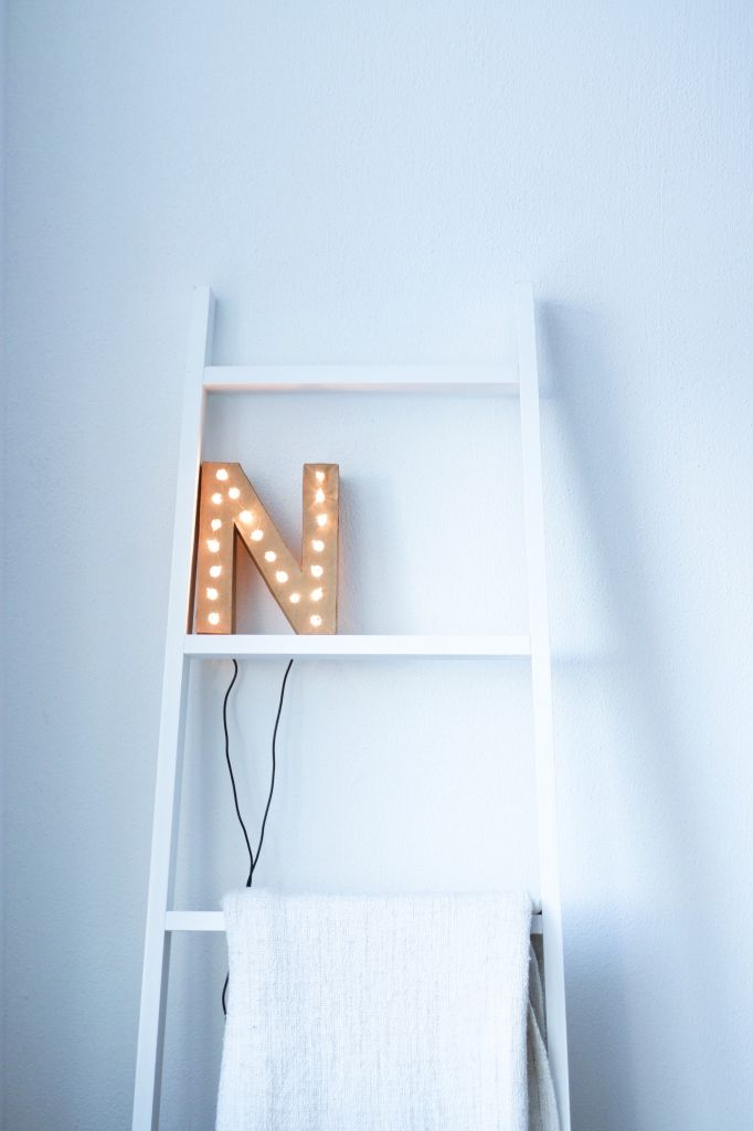 Marquee Letter with lights DIY from cardboard via Banora.