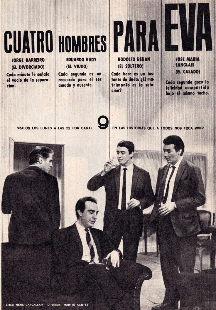 Publicidad programación de CANAL 9, Buenos Aires, 1965.